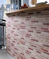 Brix er imitasjon av nettopp murstein. Kolleksjonen er fra Fantasi Interiør.