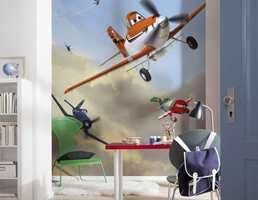 Nå kan du leve som i tapetkolleksjonen Disney Planes, med veggene dekorert med de sjarmerende flyene.