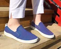 NYE SKO: Forandring fryder, særlig når det er så kjapt gjort som å farge sko med tøyfarge.