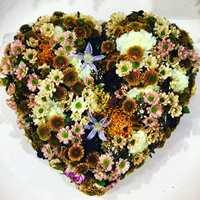 <b>INSPIRASJON:</b> Plukk med deg inspirasjon når du ser noe pent. Dette blomsterhjertet fant Finn på en messe i Essen.