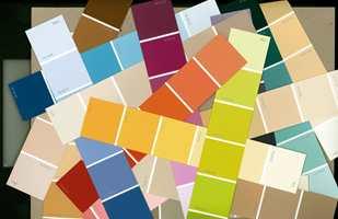 <b>VALG:</b> Ta de fargene du umiddelbart liker best og stol på magefølelsen.