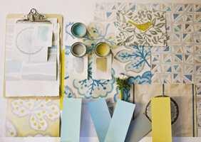 Du kan fint blande flere farger, mønster og materialer selv om du ønsker en rolig helhet.