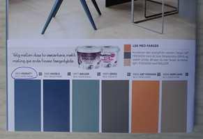 <b>MIDNATT:</b> Vi fant «vår» blåfarge, men ønsker en annen palett. Veien videre er enkel når vi kjenner fargens NCS-kode. (Foto: Bjørg Owren/ifi.no)