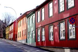 Harmoni på Kampen i Oslo. Husene står tydelig fram, men i god dialog.