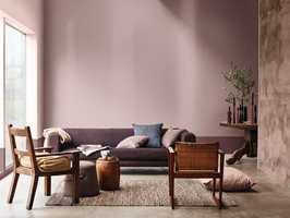 <b>HEART WOOD:</b> Malingsprodusenten Nordsjö kåret tidligere i høst den grå-beige-lilla-rosa fargen «Heart Wood» til deres årets farge 2018. (Foto: Nordsjö)