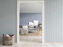 Enkelt å bruke farger, med ferdigmalte panelplater. Foto: Smartpanel<br/>Foto: Per Erik Jæger