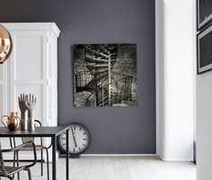 Lyse farger har ikke patent på å bli kalt nøytrale. Cement Grå fra Flügger er et eksempel på en mørk nøytral farge.