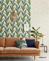 <b>BRUN SOFA:</b> Møbler, tekstiler og gulvet er viktige deler av helheten i et rom. De enkle møblene som er vanlig i dag tåler godt mønsterfølge.