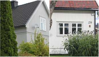 <b>SORT ELLER RØDT?:</b> Hvilken gråfarge som kler huset ditt, kan være forskjellig om taket er sort eller rødt.