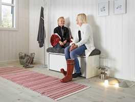 Det er viktig for oss at gulvet står i stil til resten av hytta.