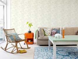 Eller pene naturmotiver i sarte farger? Fionakolleksjonen Fioton 2n edition inneholder 56 ulike tapetdesign.