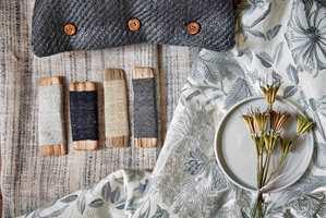 <b>TEKSTILER:</b> Det mangler tekstiler i rom med ubehagelig støy og romklang. Tekstiler fra Intag.