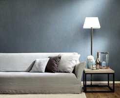 <b>LIN:</b> Inspirert av lin, har dette tapetet et taktilt uttrykk, som gjør flaten en varm og lun følelse. (Foto: Green Apple)