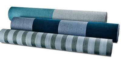 <b>MINDRE:</b> Stående striper får rommet til å virke «smalere» og gir opplevelse av større takhøyde. Ekstra lunende er det når stripene er i taktile materialer som lin og flock. (Foto: Green Apple)