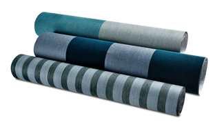 <b>STRIPER:</b> Stripet tapet kan settes opp horisontalt eller vertikalt, etter ønsket effekt. Flamant som føres av Green Apple har striper i ulike bredder. (Foto: Green Apple)