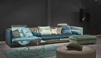 I showroomet hos Eilersen er årets nye møbler utstilt i miljøer, fargesatt med de tre nye fargene.