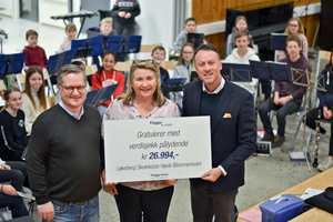 <b>KORPSMUSIKK:</b> Høvik Blommenholm Løkeberg skolekorps har fått et tilskudd på nesten 27 000 kroner fra fordelsprogrammet Flügger Andelen.