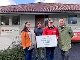 <b>RØDE KORS:</b>Tett opp mot 25 000 kroner i ekstra inntekter kommer godt med hos Røde Kors Sotra. Gjennom Flügger Andelen har frivillighets-Norge fått utdelt nesten 1 million kroner på to år.
