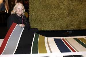 Kasthalls designer Gunilla Lagerhem Ullberg med Hambo, også dette en kolleksjon med farger og mønstre bygget på tradisjoner.