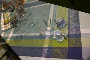 Her et mer rendyrket eksempel på den kjølige stilen med farger i grønt, blått, turkis. (Garnier Thiebaut)