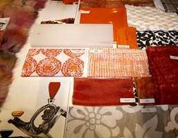 Oransje og rustikk i trenbildet - og sort-hvitt.