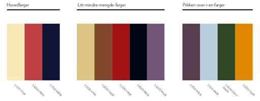 <b>DEN TRYGGE:</b> Paletten er rolig, med et samspill mellom varme og kalde farger, akkurat som vinterens samspill mellom det kalde ute og det varme inne.