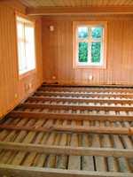 Slik så det ut når stubbloftsleiren var fjernet i det gamle sveitserhuset fra 1920-tallet.