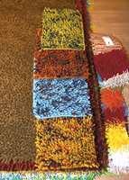 Eksempler på flossvarianter - i orange, turkis og bruntoner. Og farger mikses.