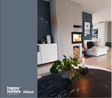 <b>STUE:</b> Fargen er lett å kombinere med lyse farger. Her gir den en lys stue et personlig og elegant løft.
