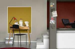 <b> TOPPENSTRØK: </b> Når underlaget er klargjort, kan du male veggen med to strøk av valgt toppstrøksmaling. Med mer farge blir forarbeidet viktigere! Foto: Nordsjö