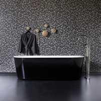 Med våtromsvinyl på badet sparer man ofte både tid og penger. Og  pent blir det med Harmony-kolleksjonen fra Forbo.