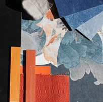 <b>KONTRASTFARGER:</b> Her er blåfargene kombinert med oransje som er hentet fra den andre siden av fargesirkelen.