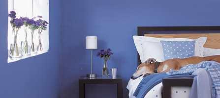 «Feeling blue» er ikke ille når det kommer til å få seg en god natts søvn. Er soverommet ditt blått, kan du nettopp lettere falle i søvn.