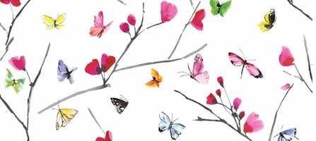 Skap en ny og sommerlig atmosfære i rommet, nå er det sommerfugler som står på tapetet.