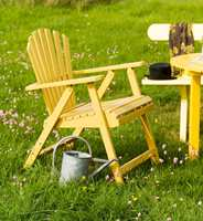 <b>STOLGLEDE:</b> En gul stol passer hvor som helst, og sammen med hvem som helst. (Foto: Nordsjö)