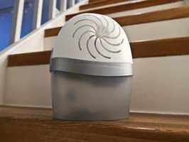 <b>PRAKTISK:</b> En fuktsluker trekker til seg fukten i rommet og bidrar til et bedre inneklima. (Foto: Robert Walmann/ifi.no)