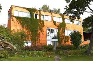 Et fredet eksempel på funkis: Villa Riise på Hamar ble tegnet av arkitektene Aasland og Korsmo og oppført i 1934.