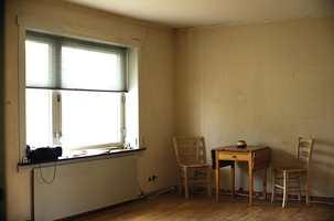 Stuen var moden for oppussing.