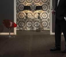 KroneGulv i fargen Nero er dristig og elegant i tjærebrun/svart.