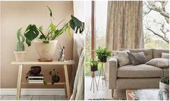 <b>LAG PÅ LAG:</b> Den lyse stuen (Beckers) forblir lys og rolig, men får dybde og mer personlighet med tekstiler i samme farge og variasjon i mønster (Borge).