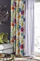 <b>GARDINGUIDE:</b> Fargerike har lansert en ny gardinguide. Den skal gi nødvendige tips og ideer etter lang tid med liten interesse for tekstiler og gardiner. (Foto: Sveinung Bråthen/Fargerike, Styling: Christine Hærra)