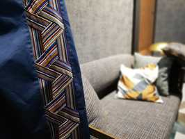 <b>PYNT:</b> Sidegardinene blir ekstra flotte når de pyntes med lekre border eller bånd