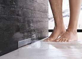 Tenk så behagelig - nå behøver du ikke lenger tråkke på risten til avløpet når du dusjer.