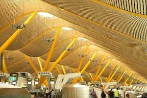 Taket på Barajas flyplassen i Madrid.