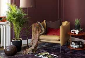 Lange, tykke gardiner, matte flater, varme tepper og et hav av puter i sofaen. Her er noen av grepene som kan gjøre stuen lunere.
