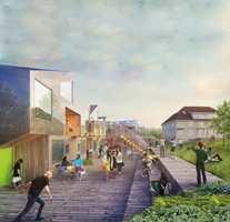 I Ulsholtveien 31 på Furuset bygger Stiftelsen Betanien Oslo 36 utleieboliger. Det er Haugen/Zohar Arkitekter som har tegnet boligene. Boligene bygges i massivtre. Illustrasjon: Haugen/Zohar Arkitekter