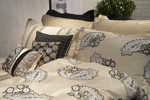Paisleymønstrene er på vei tilbake, som i dette nye sengetøyet fra Nordisk Fjer/Turiform.