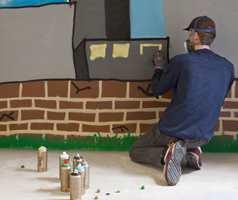 <b> UTFOLDELSE: </b> Med spraymaling kan du bli din egen muralmaler.