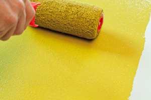 GRENG: Ved maling med rull får man et mønster på underlaget som på fagspråk blir kalt