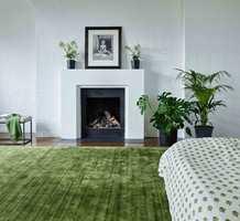 <b>TEPPE:</b> Med et grønt teppe og noen grønne planter er mye gjort! Dette er fra Jacaranda/Intag.
